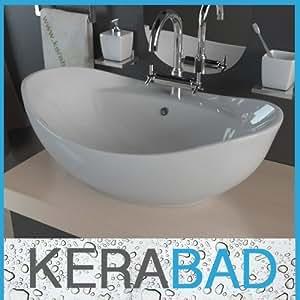 waschbecken kbw011 keramik waschtisch waschschale aufsatzwaschbecken baumarkt. Black Bedroom Furniture Sets. Home Design Ideas