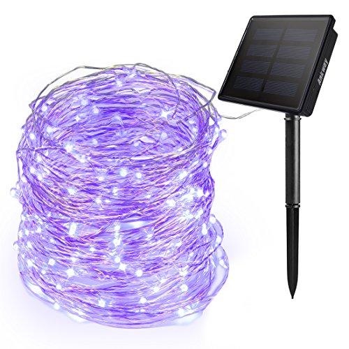 Ankway Cadena Luces Solares 200 LED 8 Modos (Nueva Versión-3 Filamentos del...