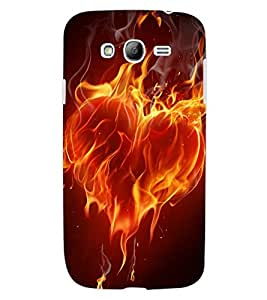 ColourCraft Flaming Heart Design Back Case Cover for SAMSUNG GALAXY GRAND NEO I9060