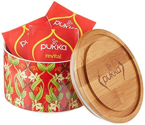 Pukka Tee Geschenkset gefüllte Keramikdose mit Bio-Tee Revital, 10 Teebeutel, 608 g