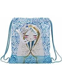 Babushka by Kimmidoll Kimmidoll Set de sacs scolaires, 40 cm, Bleu (Azul)