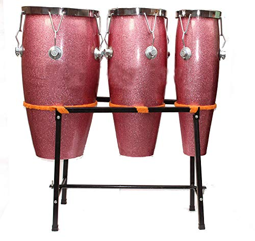 Makan Best Sounds & Taal Indian Professionals Fiber Bongo/Bongos Drum With Free Stand