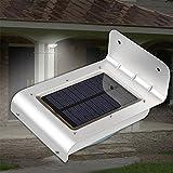 Outdoor 24LED Bewegungsmelder Solar Lampen, wasserdicht Solar Powered Wandleuchte, Weitwinkel Nacht Licht für Garten Terrasse Weg Gosse Deck