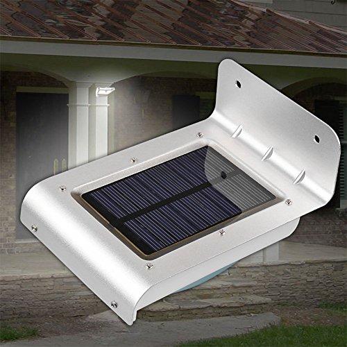 zantec Cube Weitwinkel-Solarleuchten Licht-Nacht für Garten Innenhof Weg des Brücke-Dachrinnenreiniger Außen 24LED Bewegungsmelder wasserdicht Solar-Wandleuchte