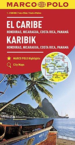 Carabes, Honduras, Nicaragua, Costa Rica, Panama 1 : 2,5 Mio