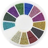 12 Color Nail Tools Steels Beads Espárragos para uñas Metal Caviar Design Encantos de las ruedas