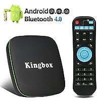 Kingbox K1 Andriod 7.1 TV Box BT 4.0/3D/4K Full HD/2.4Ghz Wifi/H.265 Smart TV Box