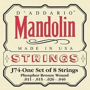 D'Addario J74 Phosphor Bronze Medium  (.011-.040) Mandolin Strings