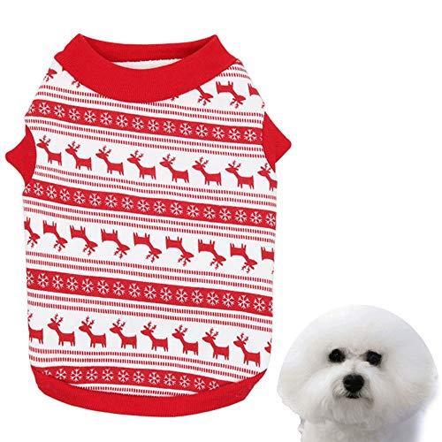 Gefangener Kostüm Hunde - Yhjmdp Weihnachten Haustier T-Shirt Weste Haustier-Kleidung Hunde Katze Hemd Kleidung Herbst und Winter Kostüm Klein Mittel Hund Kleider,1,S