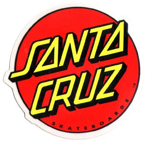 Skateboard Sticker mit Santa Cruz Logo Mdium -