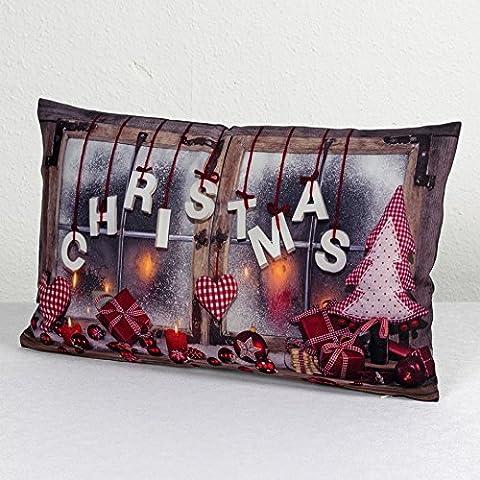"""Originelle und innovative Kissenhülle """" ENJOYING X-MAS """" - moderner Fotoprint - Kissenbezug mit wunderschönen Motiven je 30 cm x 50 cm - ein absoluter EYECATCHER - NEU für Sie entdeckt aus dem KAMACA-SHOP (Lovely Christmas)"""
