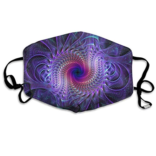 New Purple Tie Dye Psychedelic Trippy Art Anti-Dust Earloop Mouth Mask for Women Men, Anti Flu Pollen Germs Painting Kaomoji Half Face Mouth Mask - Elastic Band Hypoallergenic Respirator - Psychedelic-band