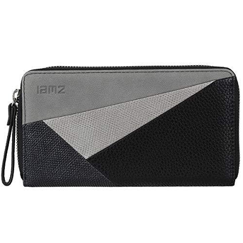 Zwei Geldbeutel Portemonnaie Geldbörse Cherie CH2-z Kunstleder, Farben Taschen:Black