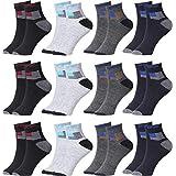 TACHI Men's Ankle Length Cotton Socks (Pack of 12) (mf-45463548_Multicolored)