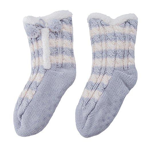MaaMgic calcetines mujer zapatos de la casa abs antideslizante prevención de caídas en 6 colores (booties)