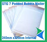 Mail Lite Size F/3 220X330 mm Padded Mailing Bags (Box of 50) - White