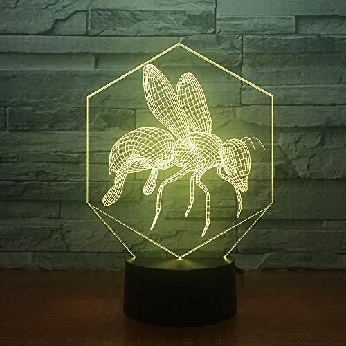 orangeww Neuheit 3D Colossal Dinosaurier Tischlampe LED USB Tier Wolfs 7 Farbwechsel Schlaf Nachtlicht Nacht Dekor Leuchte geschenk Raumdekoration Freund Kollege Geschenk -