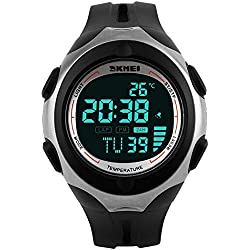 SKMEI 50M Waterproof LCD Digital Boys Teenager Multifunctional Military Sports Watch