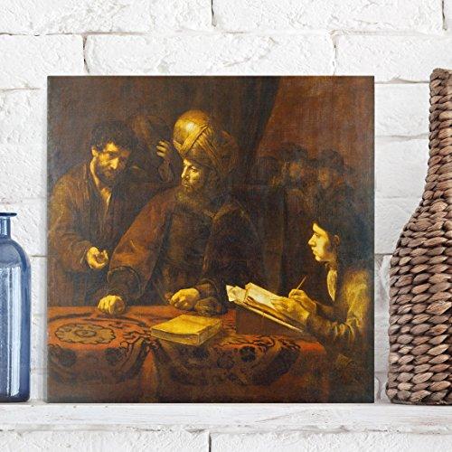 Bilderwelten Leinwandbild - Rembrandt van Rijn - Gleichnis von den Arbeitern im Weinberg - Quadrat 1:1, Leinwand Leinwandbild - XXL Leinwanddruck Wandbild, Größe HxB: 100cm x 100cm