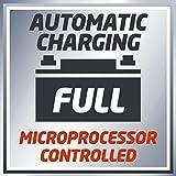 Einhell Batterie Ladegerät CC-BC 4 M (für Batterien von 3 bis 120 Ah, Ladespannung 6 V / 12 V, Winterlademodus, LCD-Batteriespannungs- und Ladeforschrittsanzeige) Vergleich