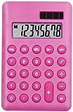 Pink–Hand Held Taschenrechner–Schule/Zuhause/Büro–Solar/Batterie–Voll funktionsfähig–8-stelliges Display