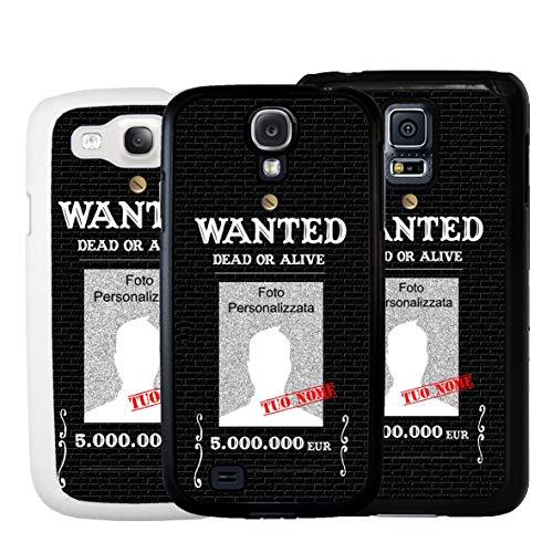 Geketto Store Cover Personalizzata Wanted Ricercato Per Samsung, Samsung Galaxy S5, Bianco