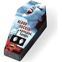 FXSTUFF Vampirzähne  Blood Sucker  + Kunstblut Kapseln + Abformmasse / Thermoplastik (wiederverwendbar) - perfekter Halt durch individuelle Anpassung