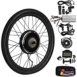 Vogvigo Roue Arrière Électrique Vélo Moteur Conversion Kit E-Vélo Vélo Hub avec Brushless Geared LCD Affichage-Noir (48V 1500W)