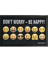 Fussmatte Emoji Don't Worry Be Happy ! Fußmatte Schmutzmatte Türabstreifer Türmatte Fußabstreifer