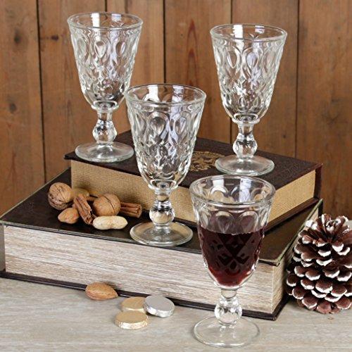 Dibor - French Style Accessories for the Home taillée à pied à vin à pied en verre 23 cl – Lot de 4