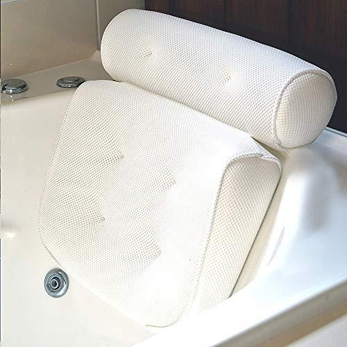 Badewannen-Kissen, Bad-/Wellness-Kissen, Komfort Badekissen,passend für alle Whirlpools, Jacuzzis & Standardwannen rutschfest, extra dick für perfekte Kopf-, Hals-, Rücken- und Schulterstützung -