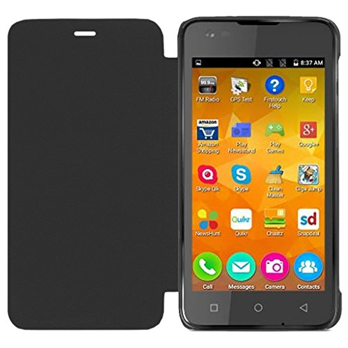 ECellStreet Flip Case Diary Folio Flap Case Cover For Micromax Canvas Nitro A310 - Black  available at amazon for Rs.195
