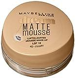 Maybelline New York Make-Up Dream Matte Mousse Fawn 40 / Schminke in einem Hautfarbe-Ton mit mattiertem Finish, 1 x 18 ml