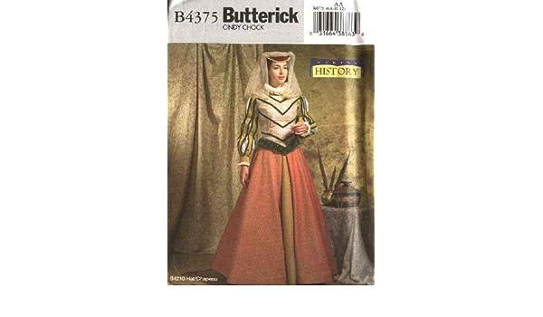 Butterick Schnittmuster 4375 Schnittmuster Größe 6–12 Mittelalter ...