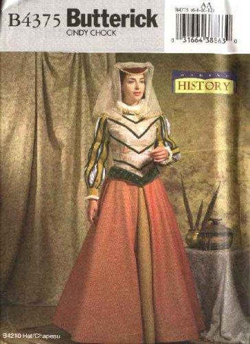 ter 4375Schnittmuster Größe 6–12Mittelalter Renaissance Historisches Kleid, Gewand (Renaissance Gewand)