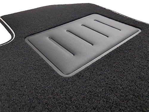 Il Tappeto Auto SPRINT03514 Tapis antidérapants en moquette noire, bord bicolore, talonnette renforcée en caoutchouc, pour 5008