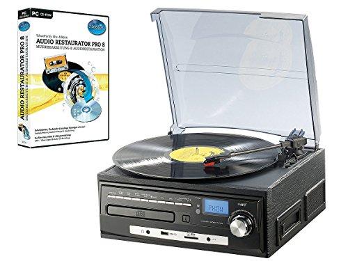 Auvisio-MHX-550LP-Chane-hi-fi-stro-compacte-pour-disques-vinyle-CD-cassettes-audio-MP3