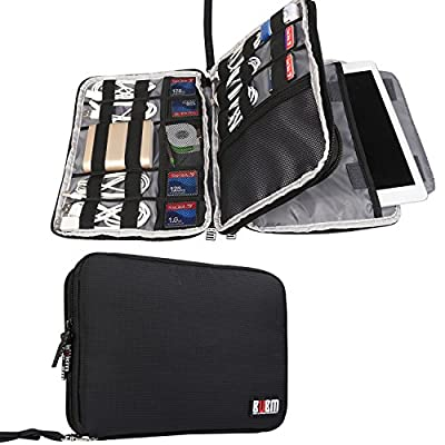 BUBM Universal Double Layer Travel Gear organiser / Electronics Accessories Bag / Battery Charger Case - inexpensive UK light shop.