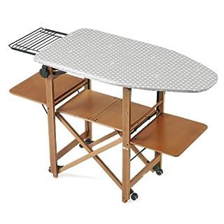 Arredamenti Italia Bravo Adjustable Ironing Board, Cherry Wood, Brown, One Size