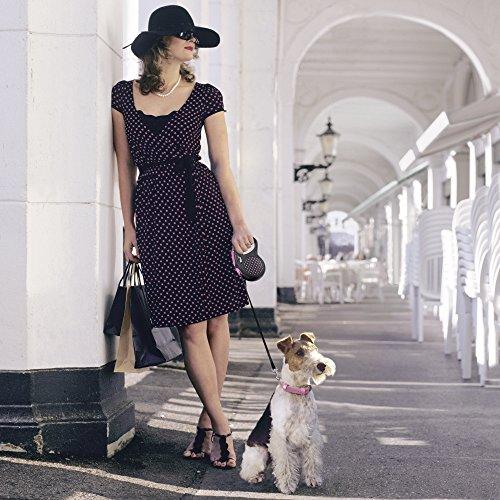 flexi . Roll-Leine Design, Seil 5 m für Hunde bis Maximal 20 kg , M, pink - 5