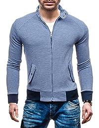 BOLF – Sweat-shirt – Veste – Fermeture éclair – DAVID COPPER 8003B – Homme