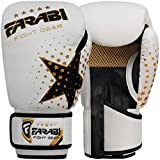 Kids Boxing gloves, MMA, Muay thai junior punch bag mitts White 6Oz by Farabi