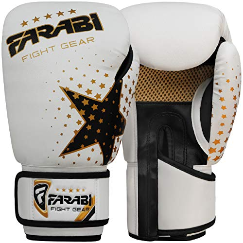 Farabi Gants de Boxe pour Enfant - pour MMA, Muay Thai, Punching Ball - 170g
