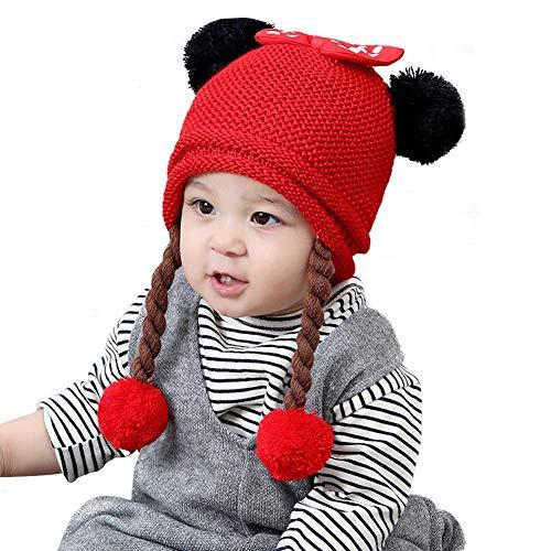 WUYANSE Weibliche Baby Scorpion Wolle Stricken Babymütze, Dicke Warme Kinder Hut,...