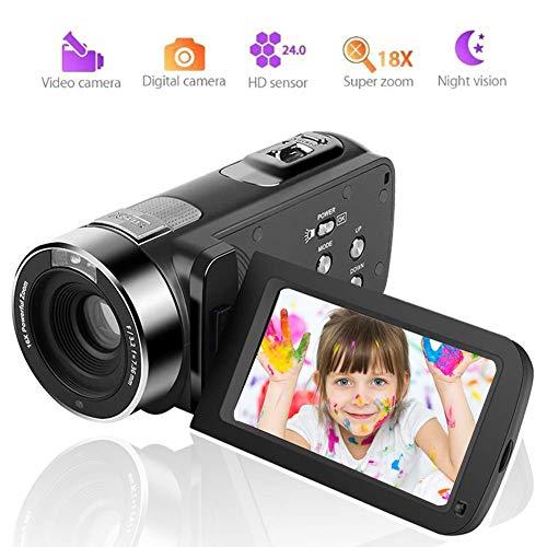 Camcorder Videokamera 1080P Digitalkamera 18 Fach Zoom Nachtsicht Camcorder Kamera mit der drahtlosen Fernbedienung
