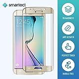 smartect Samsung Galaxy S6 Edge Panzerglasfolie 3D Curved Gold - Displayschutz mit 9H Härte - Panzerglas Bedeckt Ganzes Display Komplett Full Cover