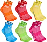 Rainbow Socks 6 pares de Calcetines Modernos, Originales y Deportivos en 6 Colores de moda. Se fabrican en la UE! Tamaños 44 45 46 Ideal para que el pie Respire! La Calidad Superior! Oeko-Tex!
