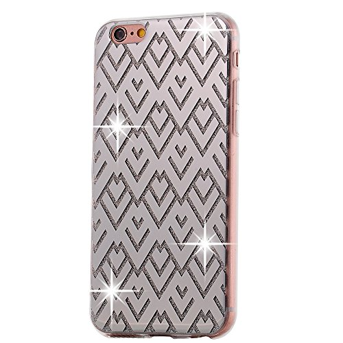"""iPhone 6sPlus Schutzhülle, iPhone 6Plus Case Twinkler Series CLTPY Klar Dünne Weiche Silikon Gel-Abdeckung Etui mit Durchsichtig Muster für 5.5"""" Apple iPhone 6Plus/6sPlus (Nicht iPhone 6/6s) + 1 x Sch Silberner Diamant"""