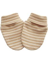 100% coton bio en tricot nouveau-né bébé anti-rayures Moufles Gants