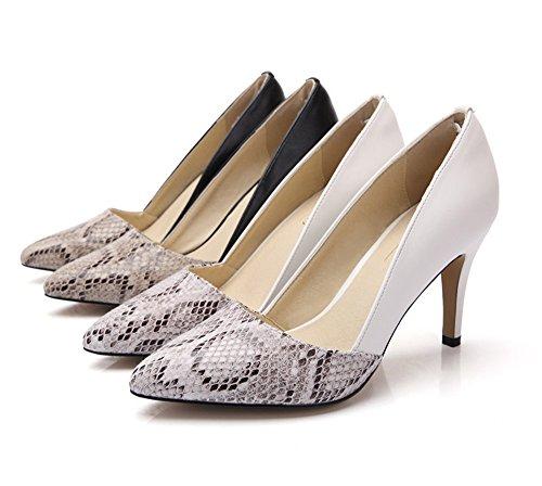 uBeauty - Escarpins Femme - Chaussures Enflier - Escarpins Classique - Chaussures Stilettos Blanc